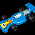 Cheap Blue Plastic Racecar