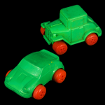 Green Toy Cars
