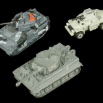 Micro Machines Gray Tanks and Armored Car