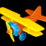 Small Yellow, Red, and Blue Plane